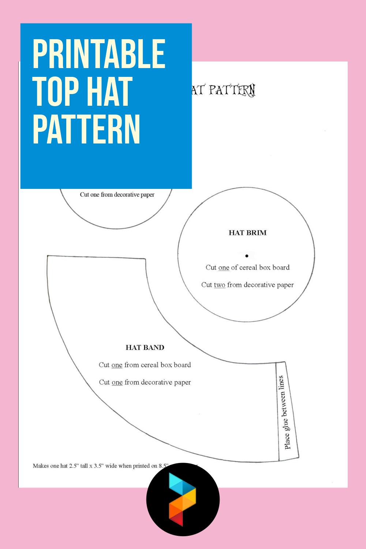 Printable Top Hat Pattern