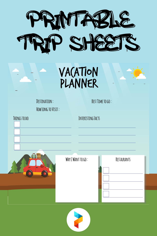 Printable Trip Sheets