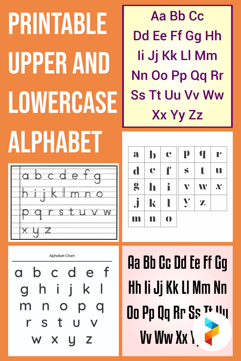 Printable Upper And Lowercase Alphabet
