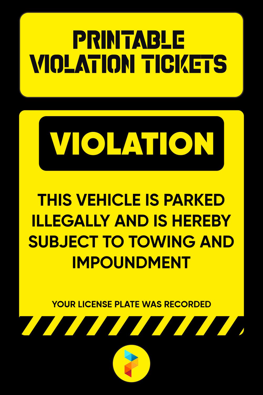 Printable Violation Tickets