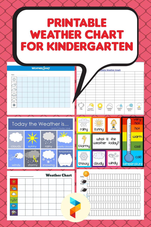 Printable Weather Chart For Kindergarten