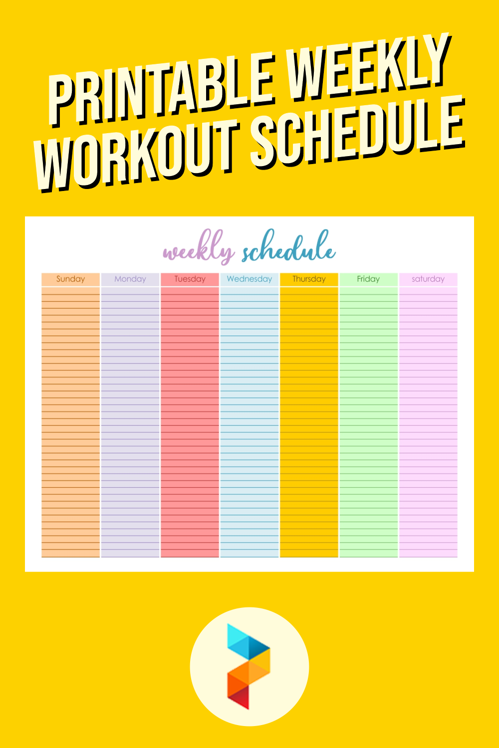 Printable Weekly Workout Schedule