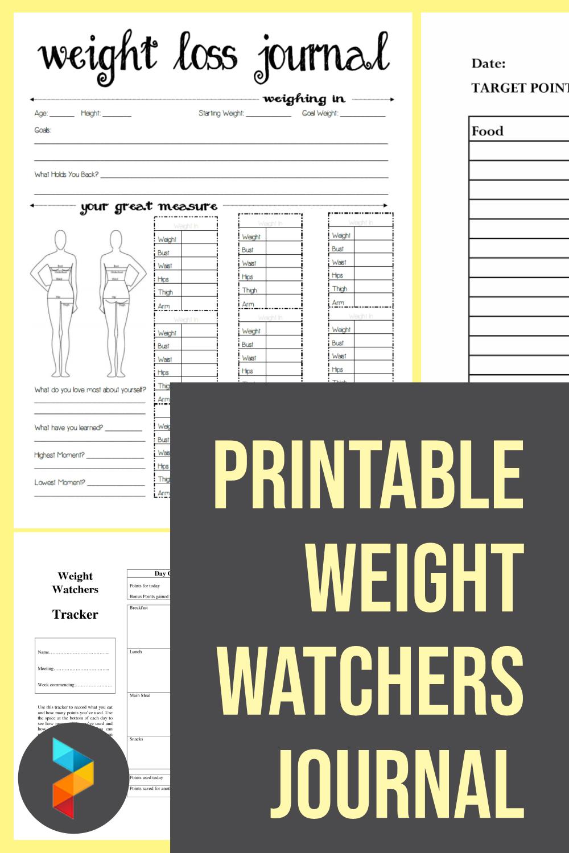 Printable Weight Watchers Journal