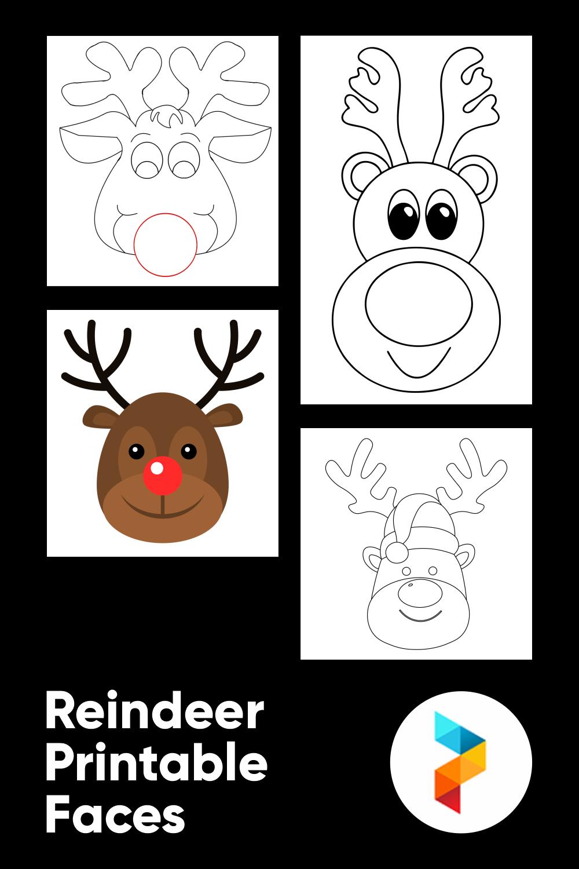Reindeer Printable Faces