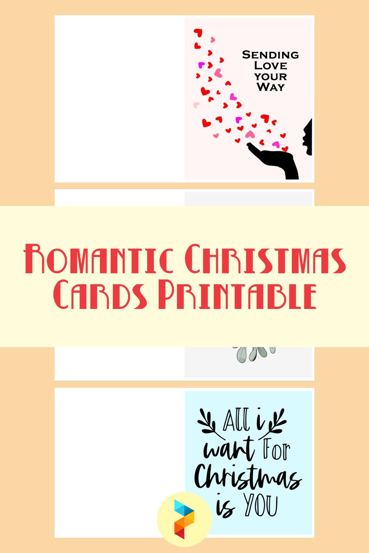 Romantic Christmas Cards Printable