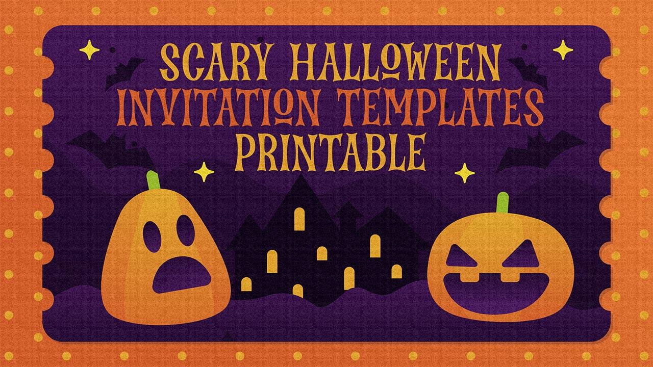 Scary Halloween Invitation Templates Printable
