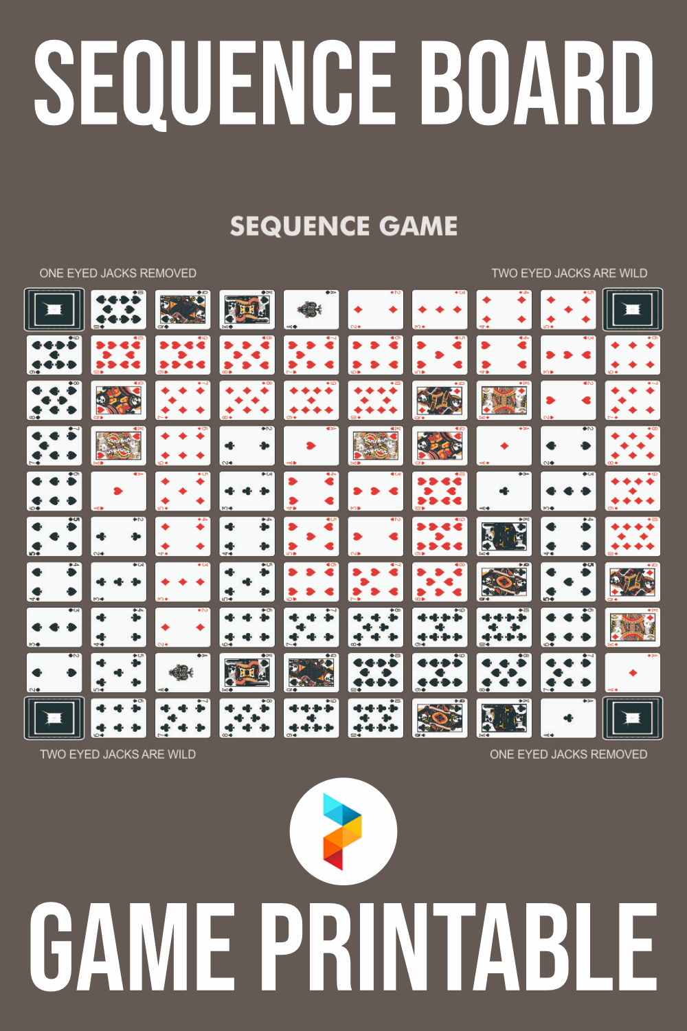 Sequence Board Game Printable