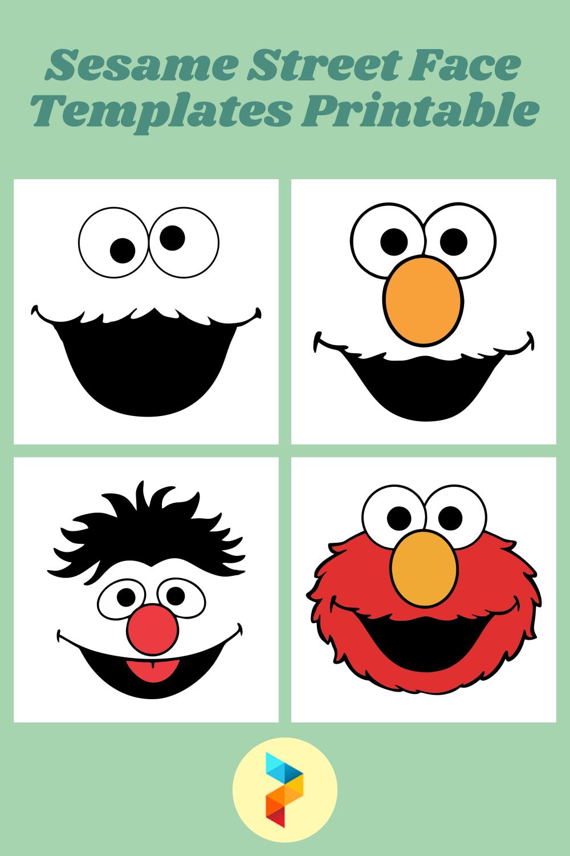 Sesame Street Face Templates Printable
