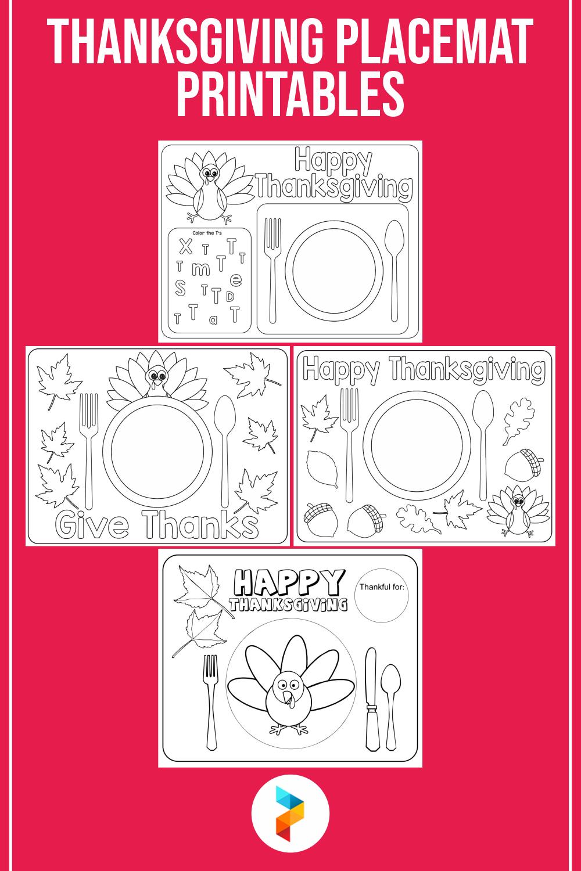Thanksgiving Placemat Printables