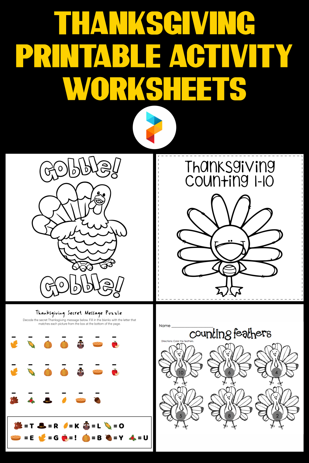 Thanksgiving Printable Activity Worksheets