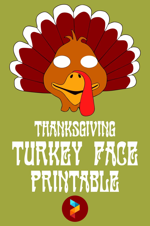 Thanksgiving Turkey Face Printable