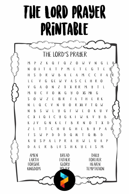 The Lord Prayer Printable