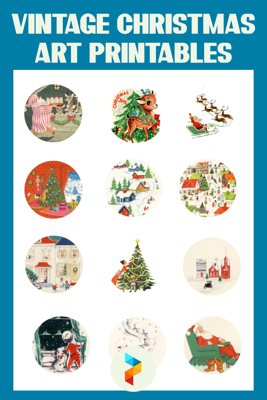 Vintage Christmas Art Printables
