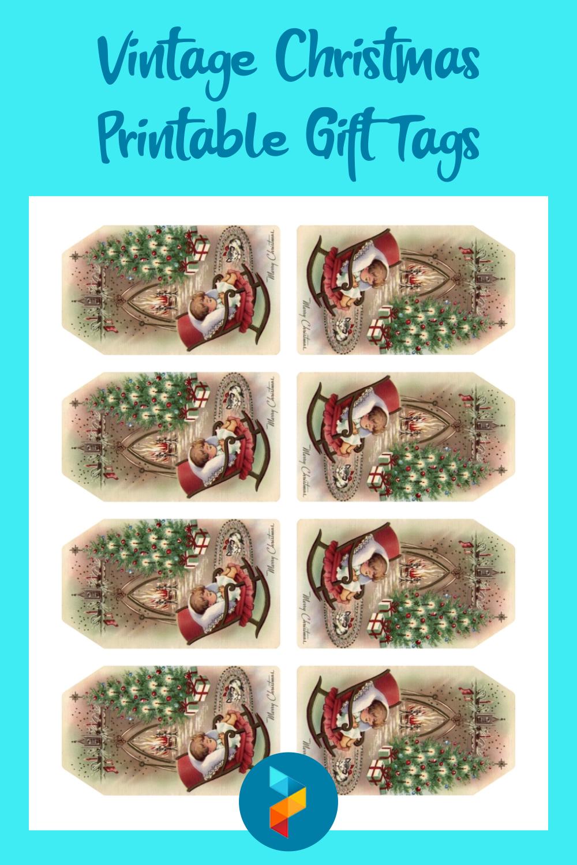 Vintage Christmas Printable Gift Tags