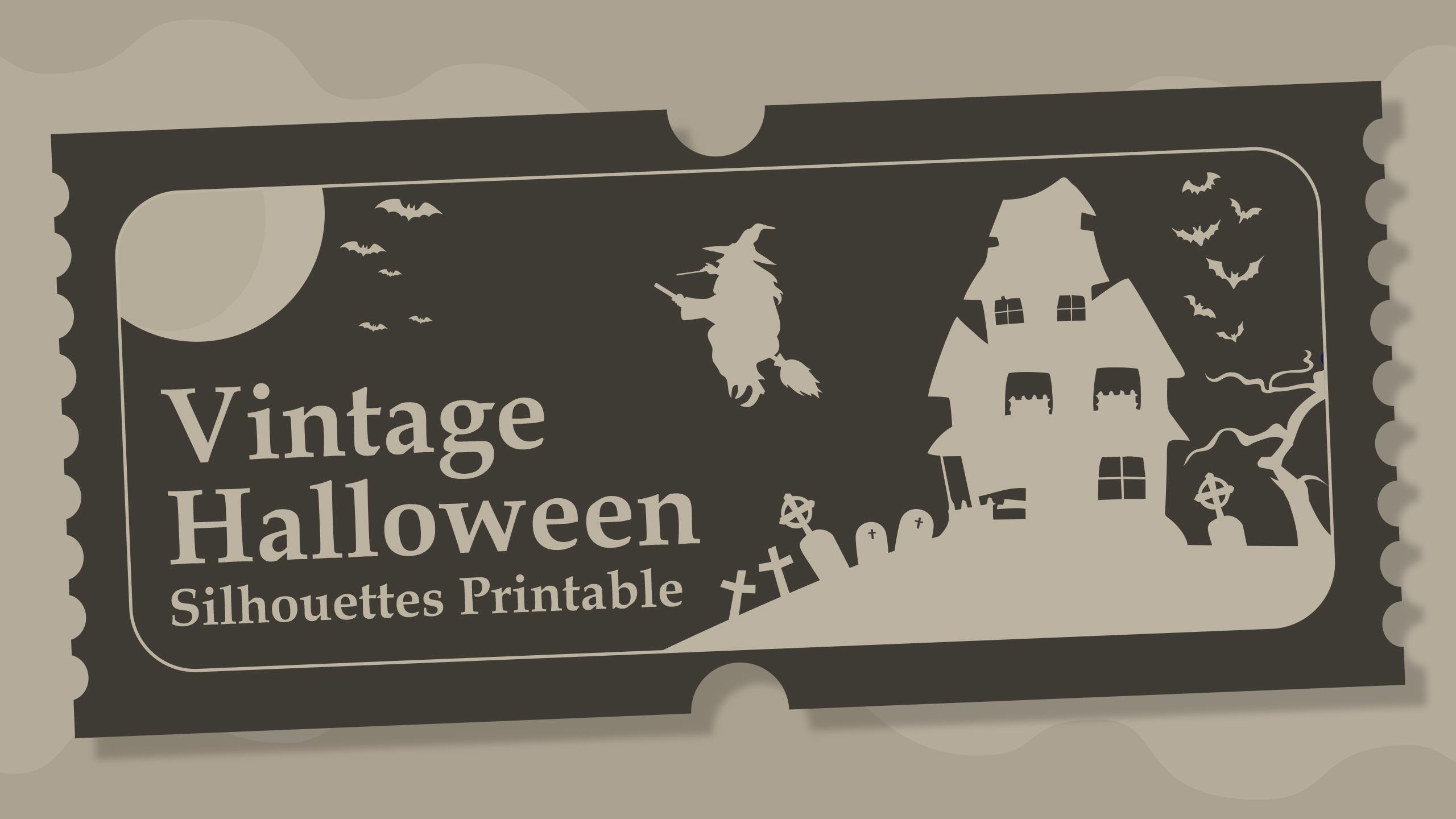 Vintage Halloween Silhouettes Printable