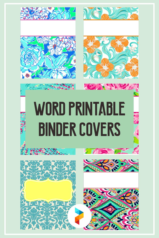 Word Printable Binder Covers