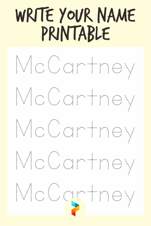 Write Your Name Printable