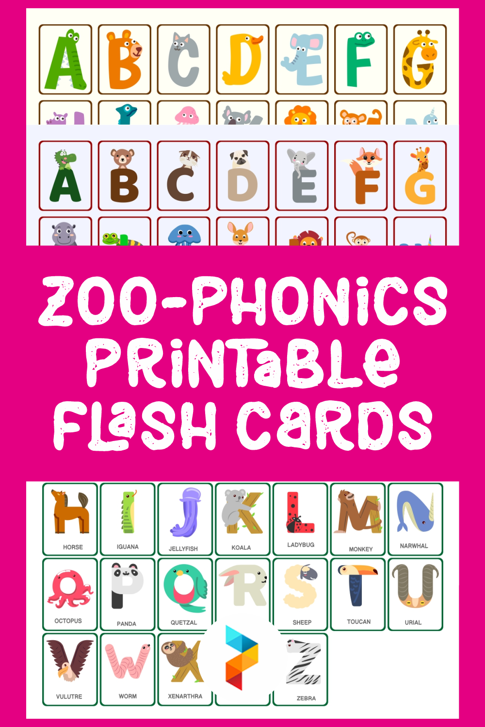 Zoo-phonics Printable Flash Cards
